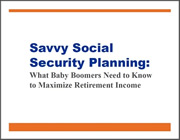 Savvy Social Security Planning